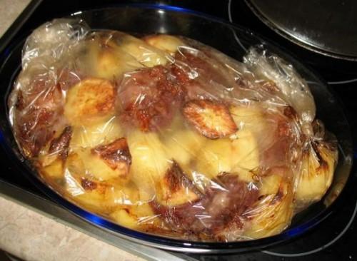 Рёбрышки с картошкой, в духовке