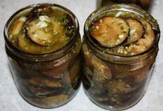 Домашнее консервирование: баклажаны маринованные