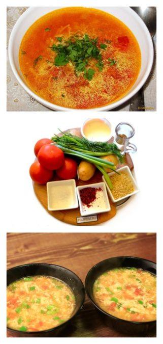 Быстрый рецепт супа с помидорами