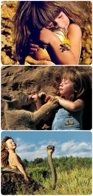 Фотографии девочки с дикими животными сводят всех с ума спустя 20 лет