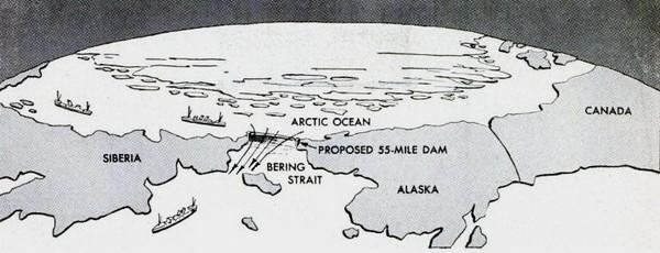 Что стало бы с миром, если бы Советский Союз перекрыл дамбой Берингов пролив