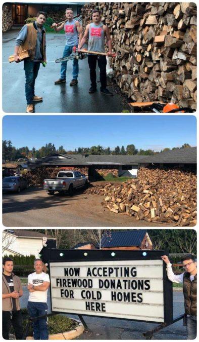 Отец и 2 его сына нарубили 80 машин дров. И раздали их ″холодным″ домам!