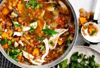 Суп из чечевицы-4 рецепта