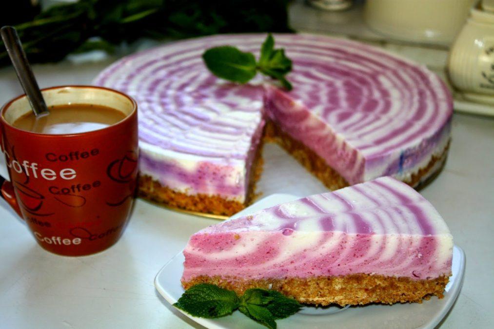 Очень простой и красивый творожный торт за 15 минут. И никакой выпечки!
