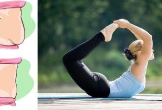 10 поз йоги помогут помогут потерять жир на животе