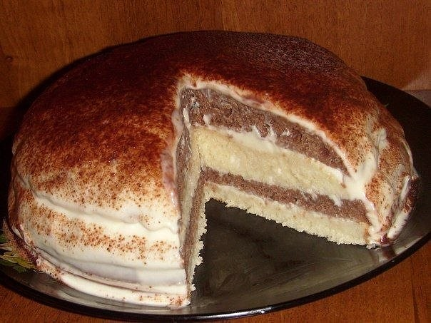 Быстрый шоколадный торт на кефире «Ням-ням»