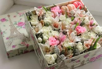 Цветы в коробке. Как за ними ухаживать?