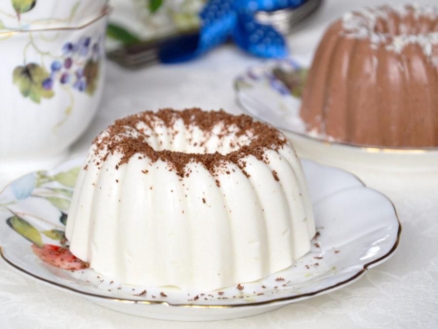 Очень вкусный и диетический десерт - бланманже из творога.