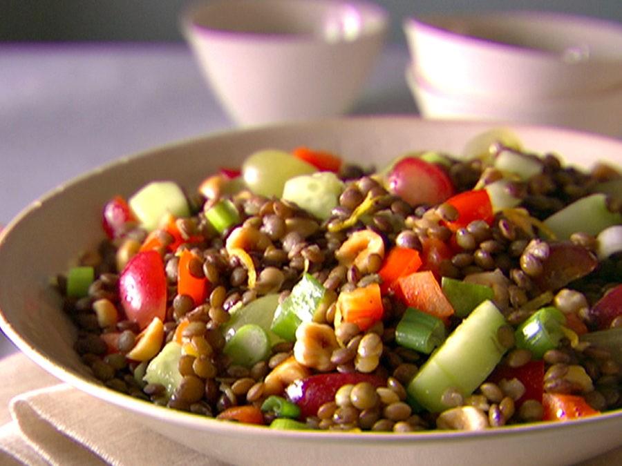 Чечевица с овощами, просто объедение.
