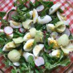 Очень вкусный салат из авокадо и редиса, а главное - полон витамин.
