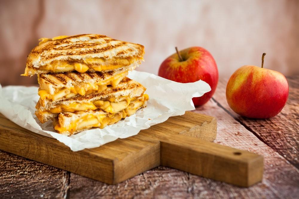Яблочные бутерброды. Вкусный завтрак или перекус.