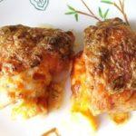 Куриные бедра запеченные с сыром.