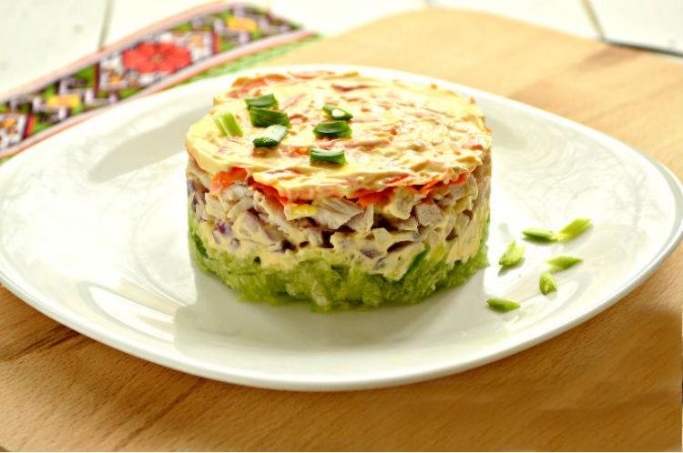 Сытный салат. Ничего варить не нужно.