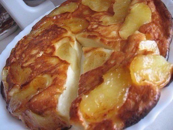 Чудесный творожно-яблочный пирог