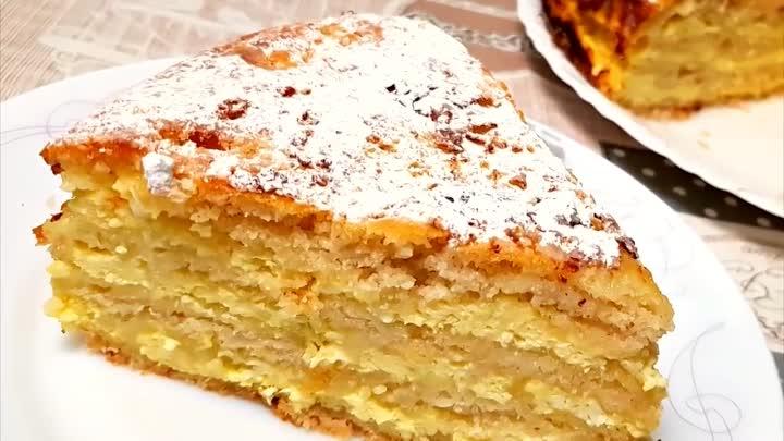 Превосходный пирог с творогом. Нежный вкус не оставит равнодушным никого!