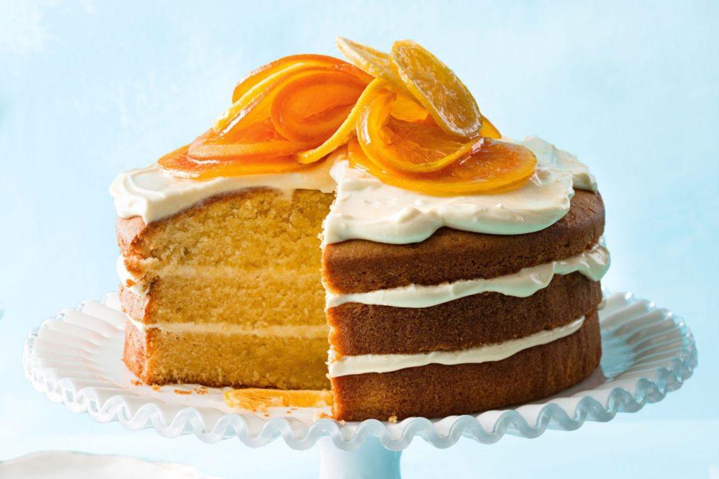 Бисквитный апельсиновый торт. Простая выпечка к чаю.