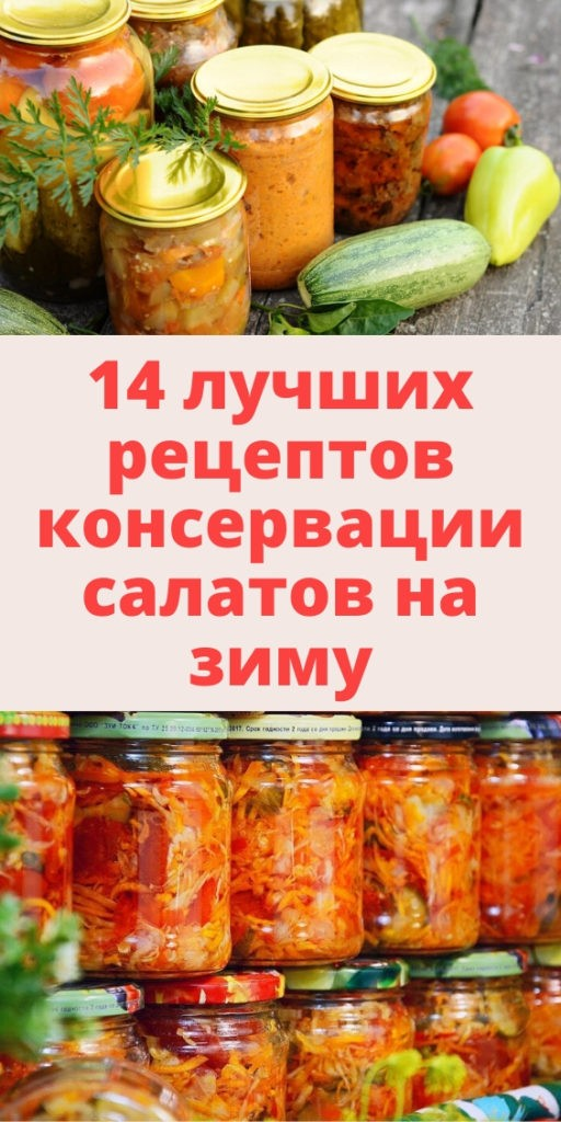 14 лучших рецептов консервации салатов на зиму