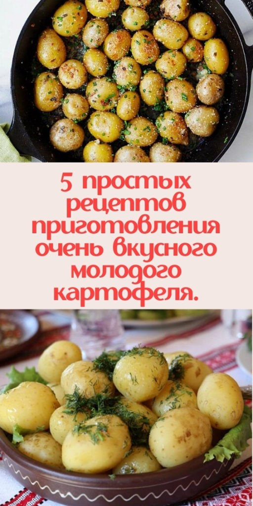 5 простых рецептов приготовления очень вкусного молодого картофеля.
