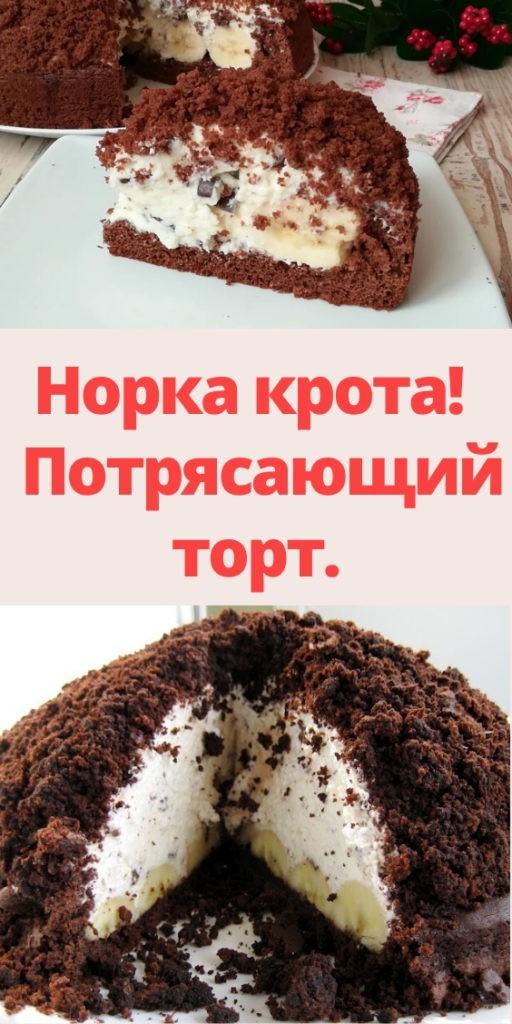 Норка крота! Потрясающий торт.